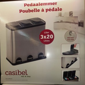 Lot destockage poubelle 3x 20L - PAL1250