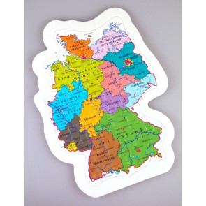 puzzle - map with federal states, mix., Germany and Switzerland