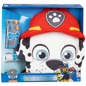 paw patrol plush backpack with colouring accesories