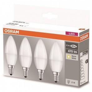 Osram 4x LED BASE Kerze Classic E14-B40/5.7W~40W/470lm/2700K/A+/LMX