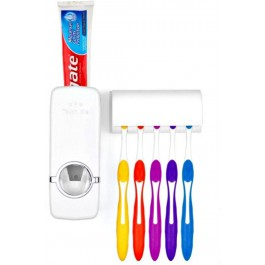 Toothbrush Holder & Automatic Toothpaste Dispenser - Hanging Toothbrush Case White - PO-3415
