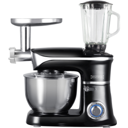 Royalty Line PKM-1900.7BG; 3 in 1 food processor with 1900 watts max Silver