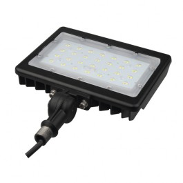 Optical design slim LED flood light 30W with driver