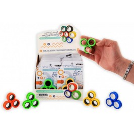 Magnetic finger trick rings
