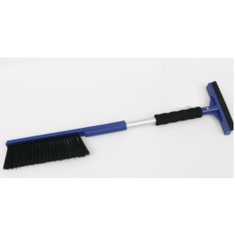Ice scraper with brush