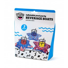Bigmouth Inc Inflatable Patriotic Stars Beverage Boats 3pk