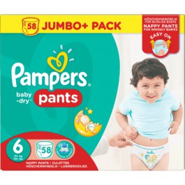 Pampers baby dry Pants size 2, 3, 4, 5, 6