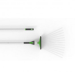 QUIRKY Rake-n-Tamp - Adjustable Garden and Leaf Rake