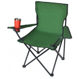 Camping chair - Fishing chair with cup holder - High backrest - 110 kg loadable - incl carrying bag - PO-7549