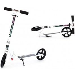 HA-MA RB-559 Foldable scooter for children and adults - Can be loaded up to 100 kg - white